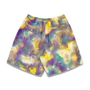 Tie Dye Summer Shorts In Yellow - CNTRBND