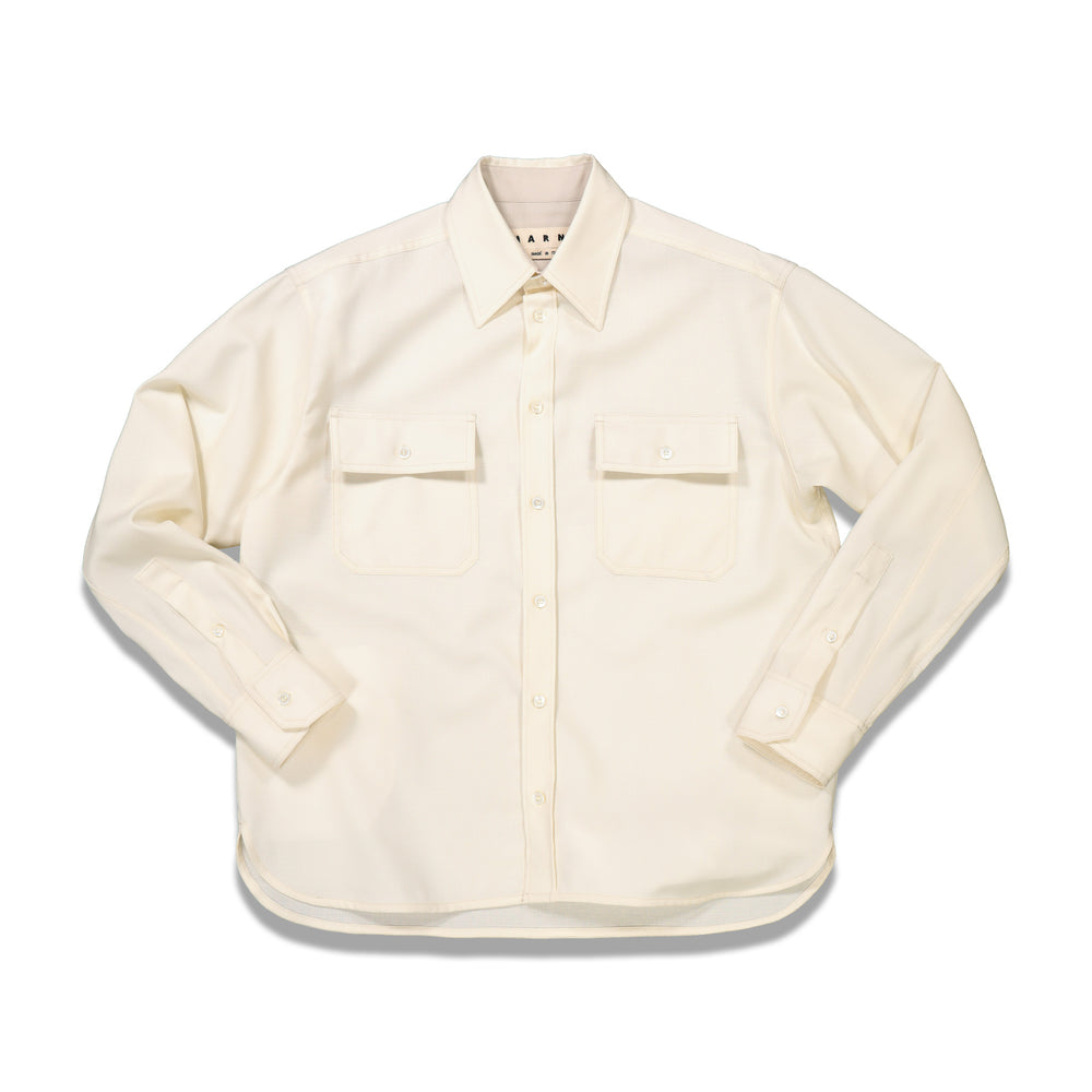 Chest Pockets L/S Shirt In Ivory - CNTRBND
