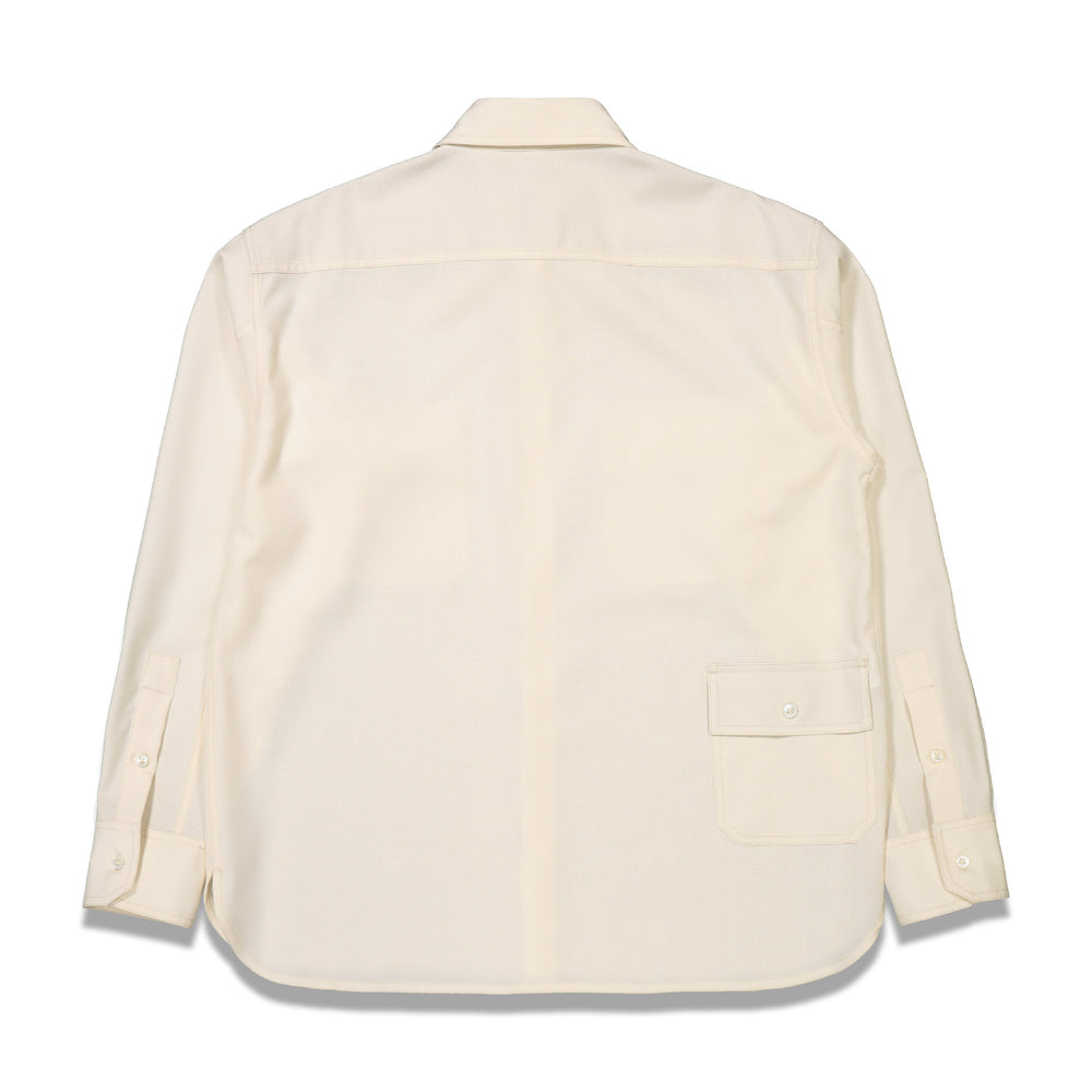 Chest Pockets L/S Shirt In Ivory