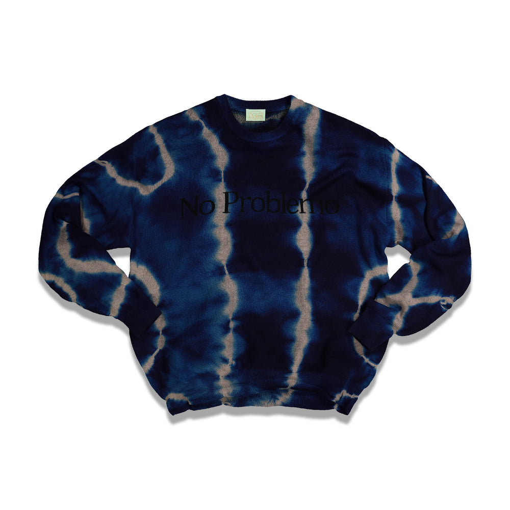 NO PROBLEMO Tie Dye Jumper In Blue