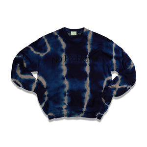 Load image into Gallery viewer, NO PROBLEMO Tie Dye Jumper In Blue