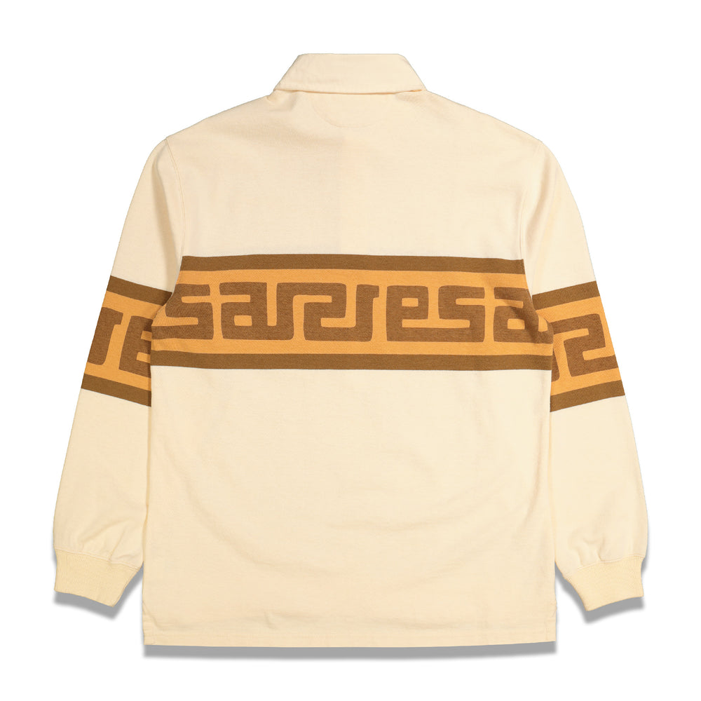 Meandros Rugby Shirt In Beige