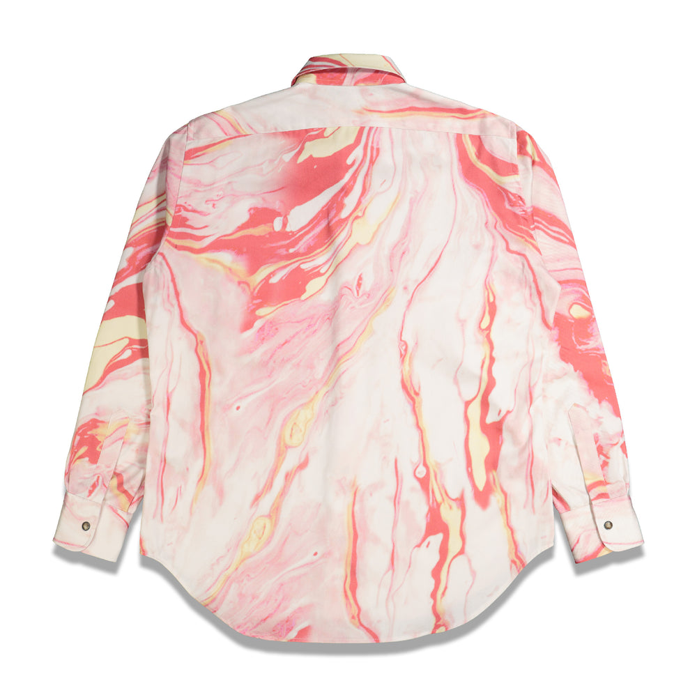 Load image into Gallery viewer, Marble Western Shirt In Pink - CNTRBND