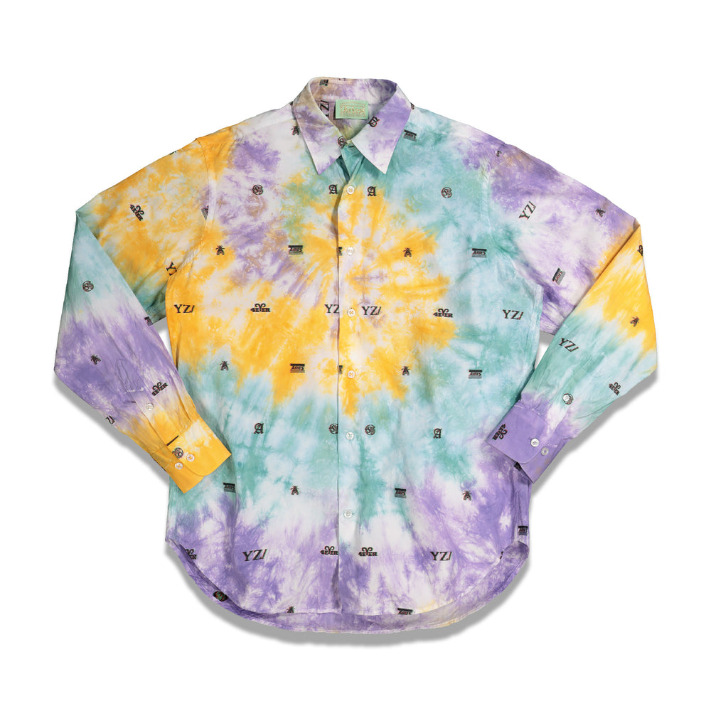 Tie Dye 3D Monogram Jacquard Shirt In Multi