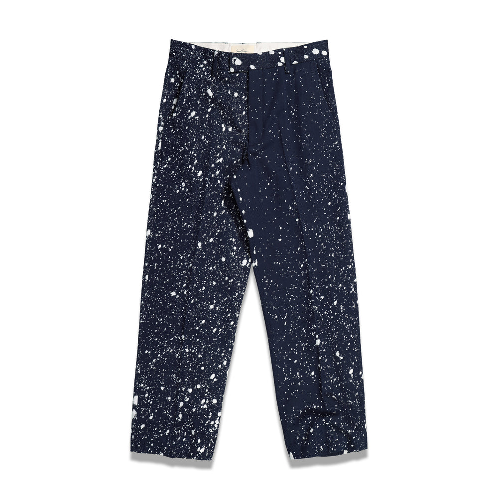 Second Layer Cerretto Trouser In Splatter Navy