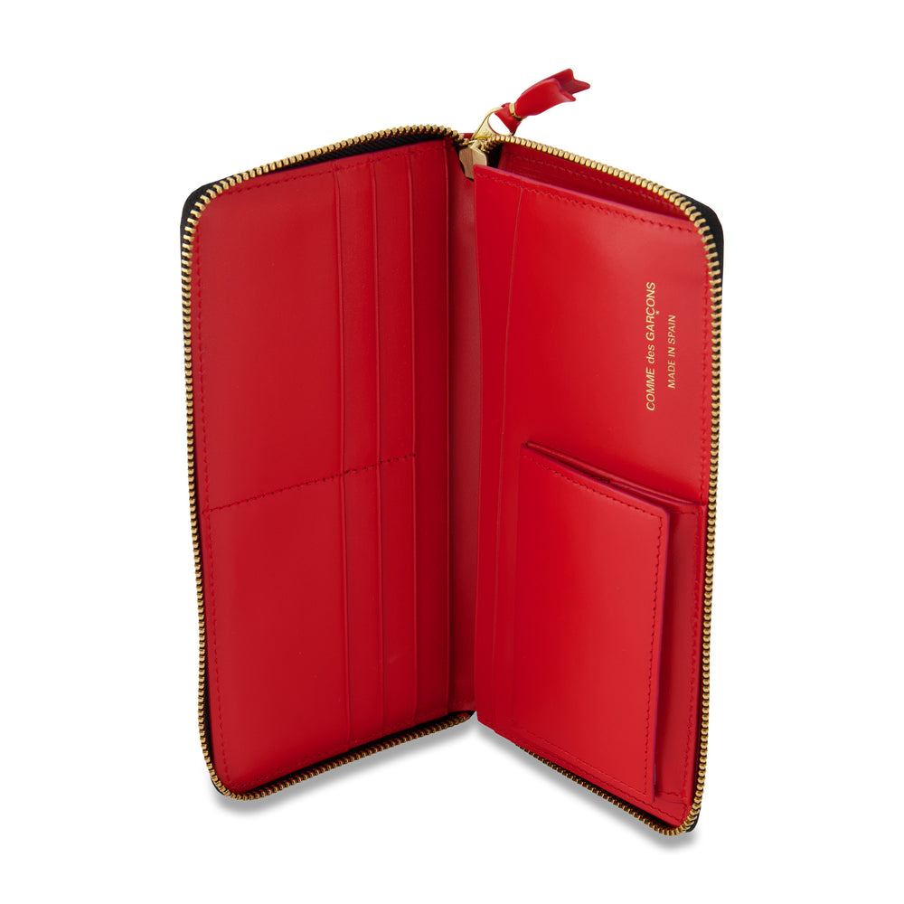 Big Logo Long Portfolio Wallet In Red