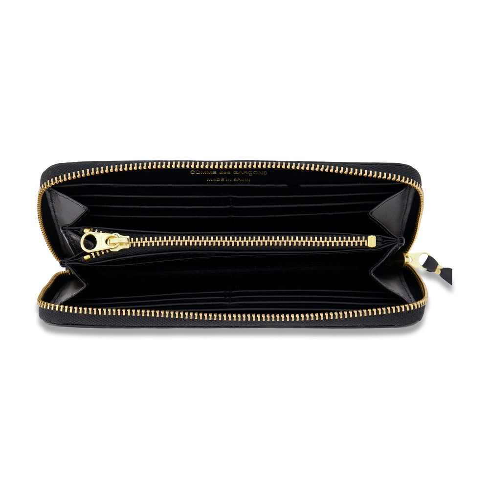 Big Logo Long Zip Wallet In Black