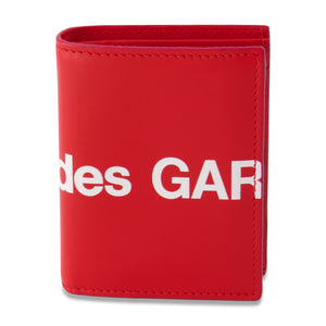 Big Logo Card Holder Wallet In Red
