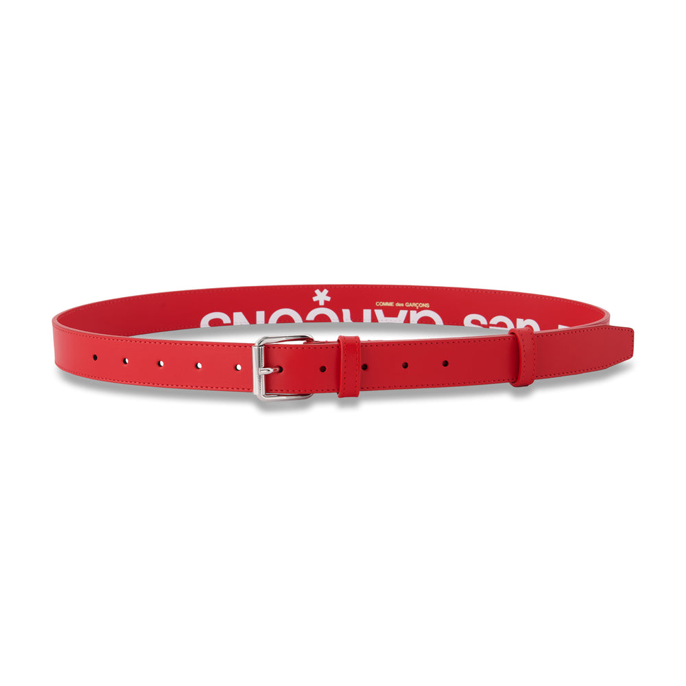 Big Logo Belt In Red - CNTRBND