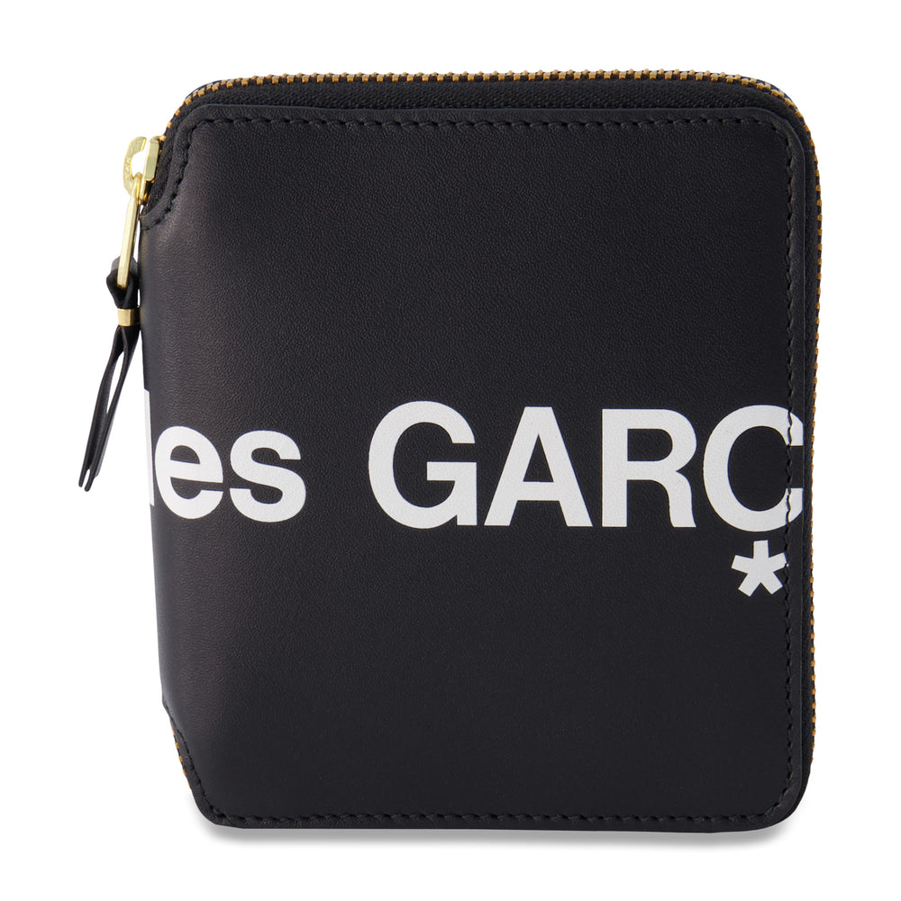 Big Logo Short Full Zip Wallet In Black - CNTRBND