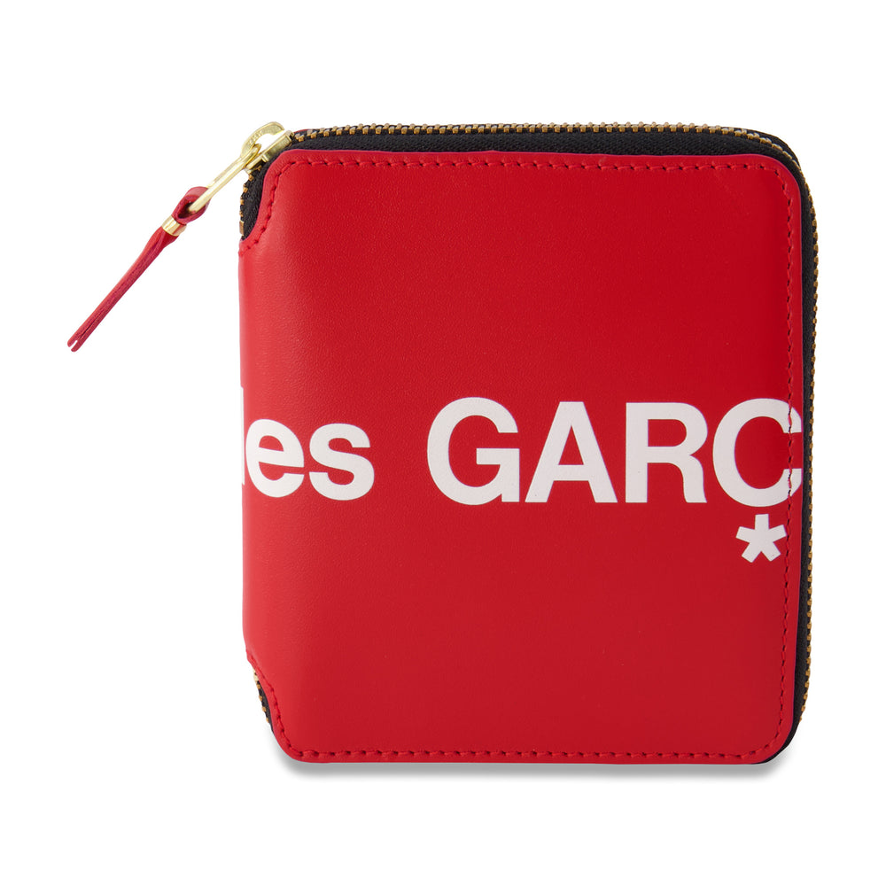Big Logo Short Full Zip Wallet In Red - CNTRBND