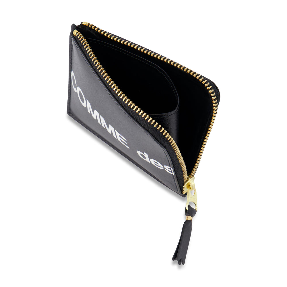 Big Logo Half Zip Wallet In Black