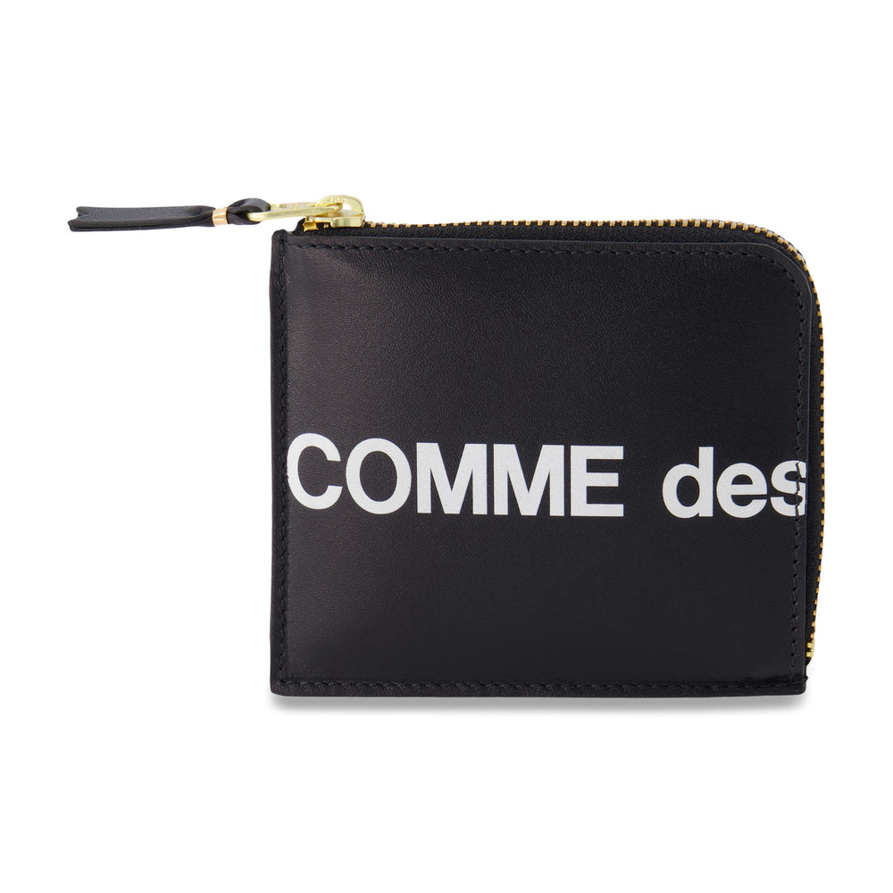 Big Logo Half Zip Wallet In Black - CNTRBND