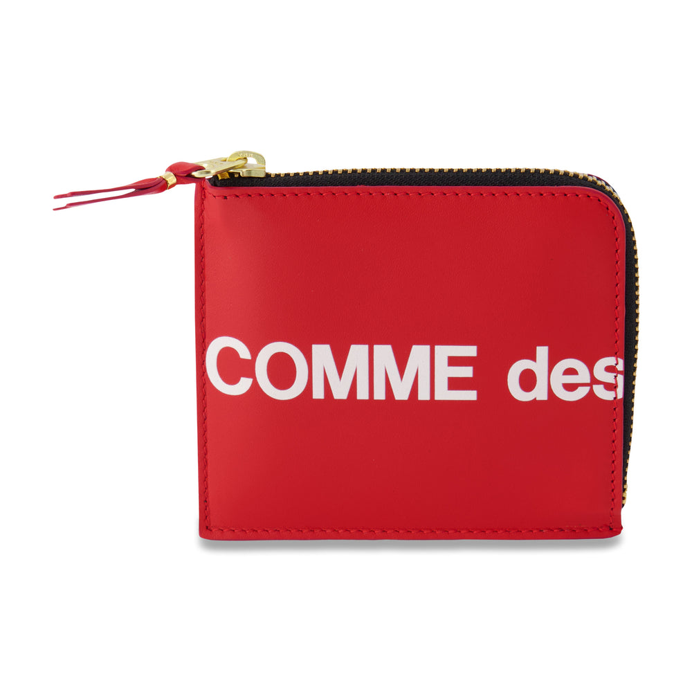 Big Logo Half Zip Wallet In Red - CNTRBND