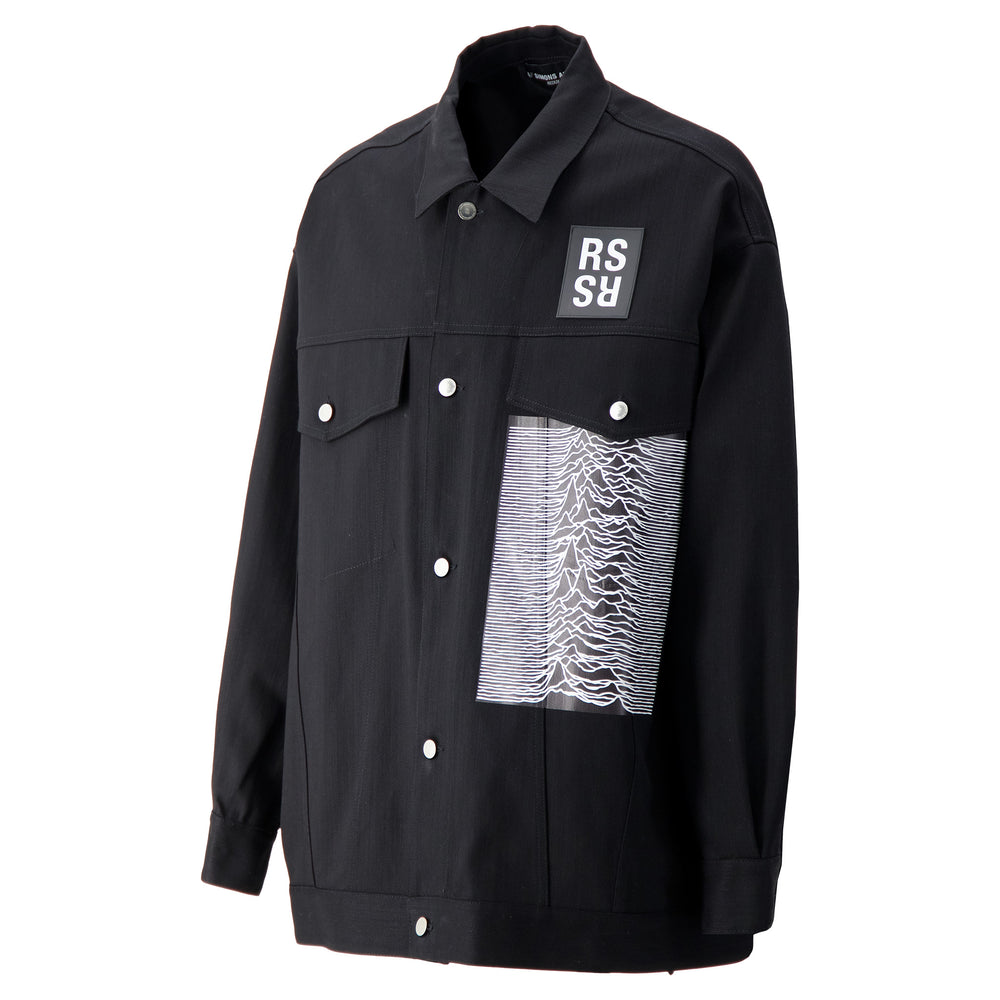 RS Archive Redux Patch Oversized Denim Jacket In Black