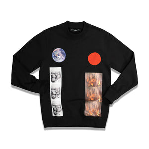 RS Archive Redux Sterling Patches Basic Sweater In Black - CNTRBND