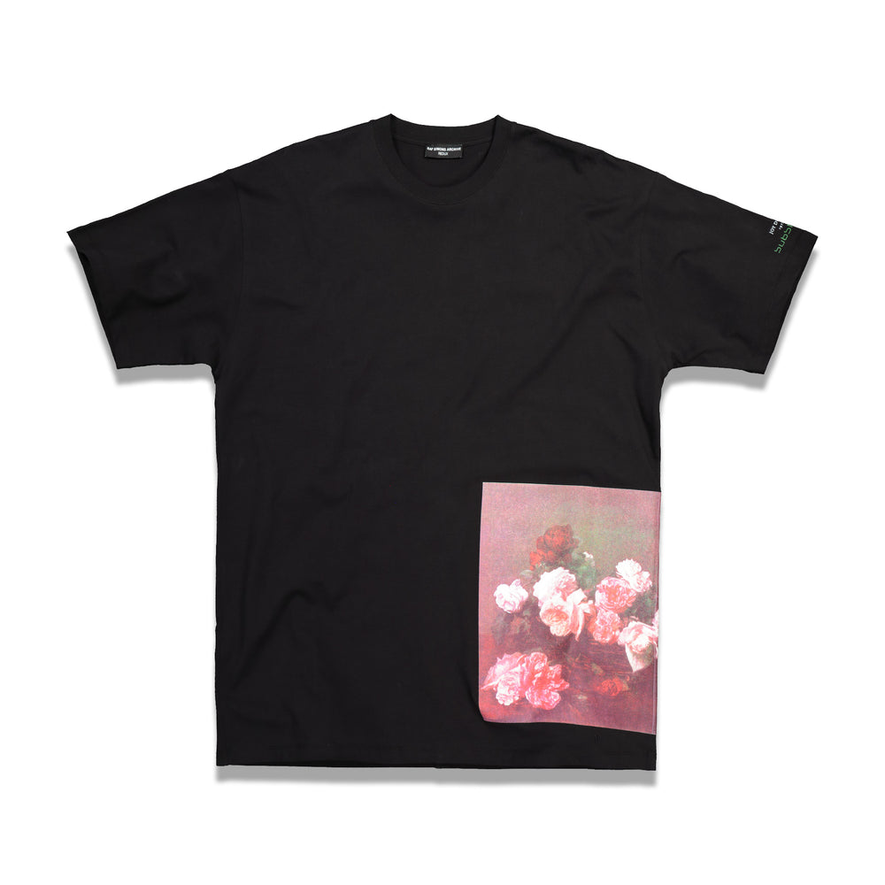 RS Archive Redux Flower Print Large T-Shirt In Black