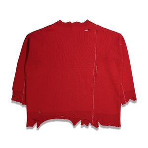 RS Archive Redux F Patch Oversized Sweater In Red