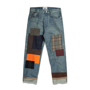 Load image into Gallery viewer, Funmix Patchwork Denim In Indigo - CNTRBND