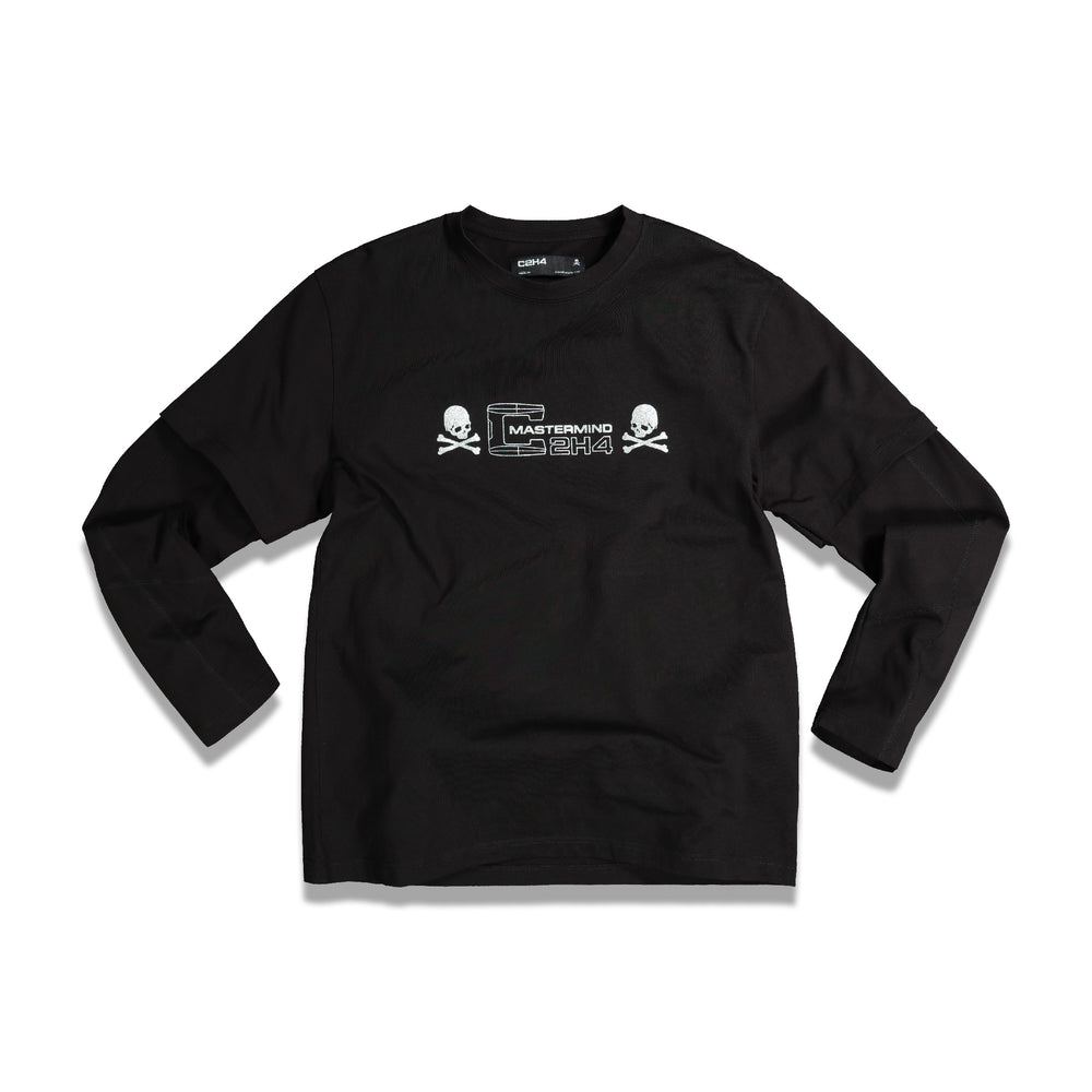Double Layer L/S T-Shirt In Black
