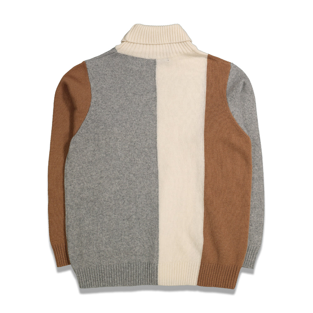 Load image into Gallery viewer, Color Block Turtleneck In Ivory - CNTRBND