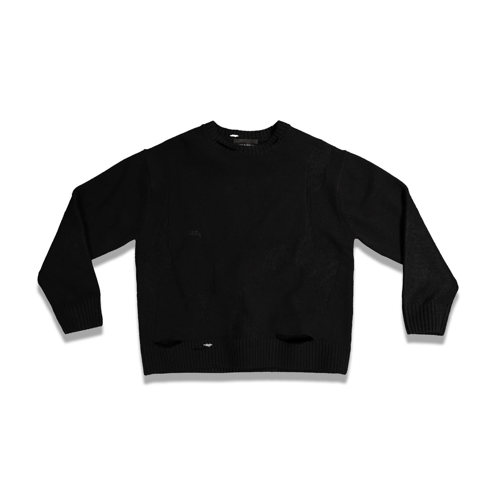 Load image into Gallery viewer, Oversized Destroy Knitted Jumper In Black