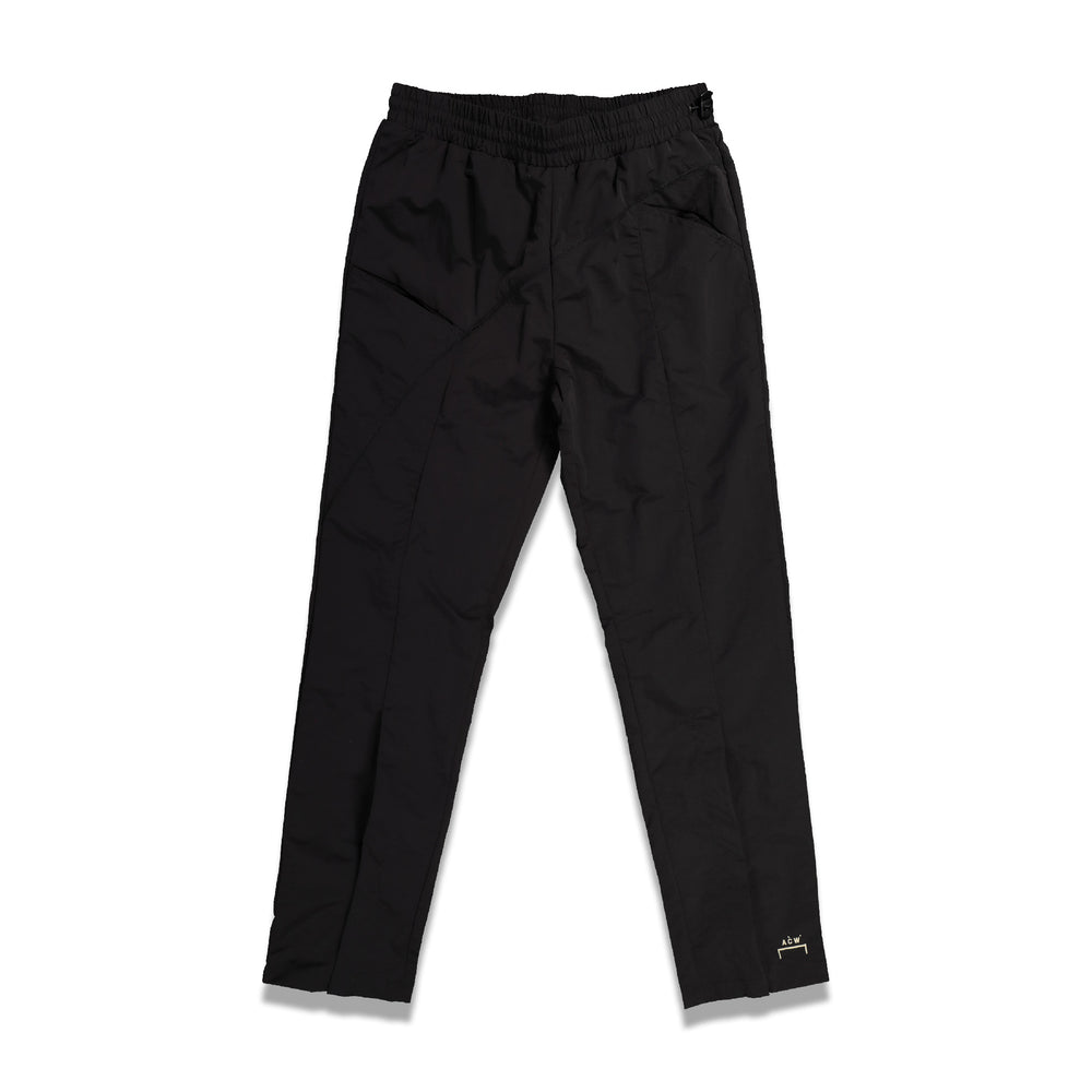 Curved Stitch Track Pants In Black
