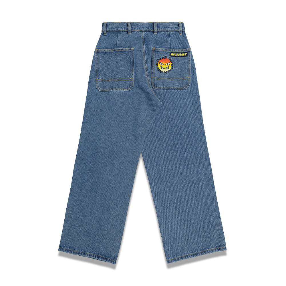 Load image into Gallery viewer, RASSVET Silicon Patch Baggy Denim In Blue