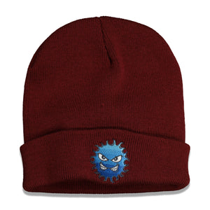 RASSVET Embroidery Patch Beanie In Burgundy