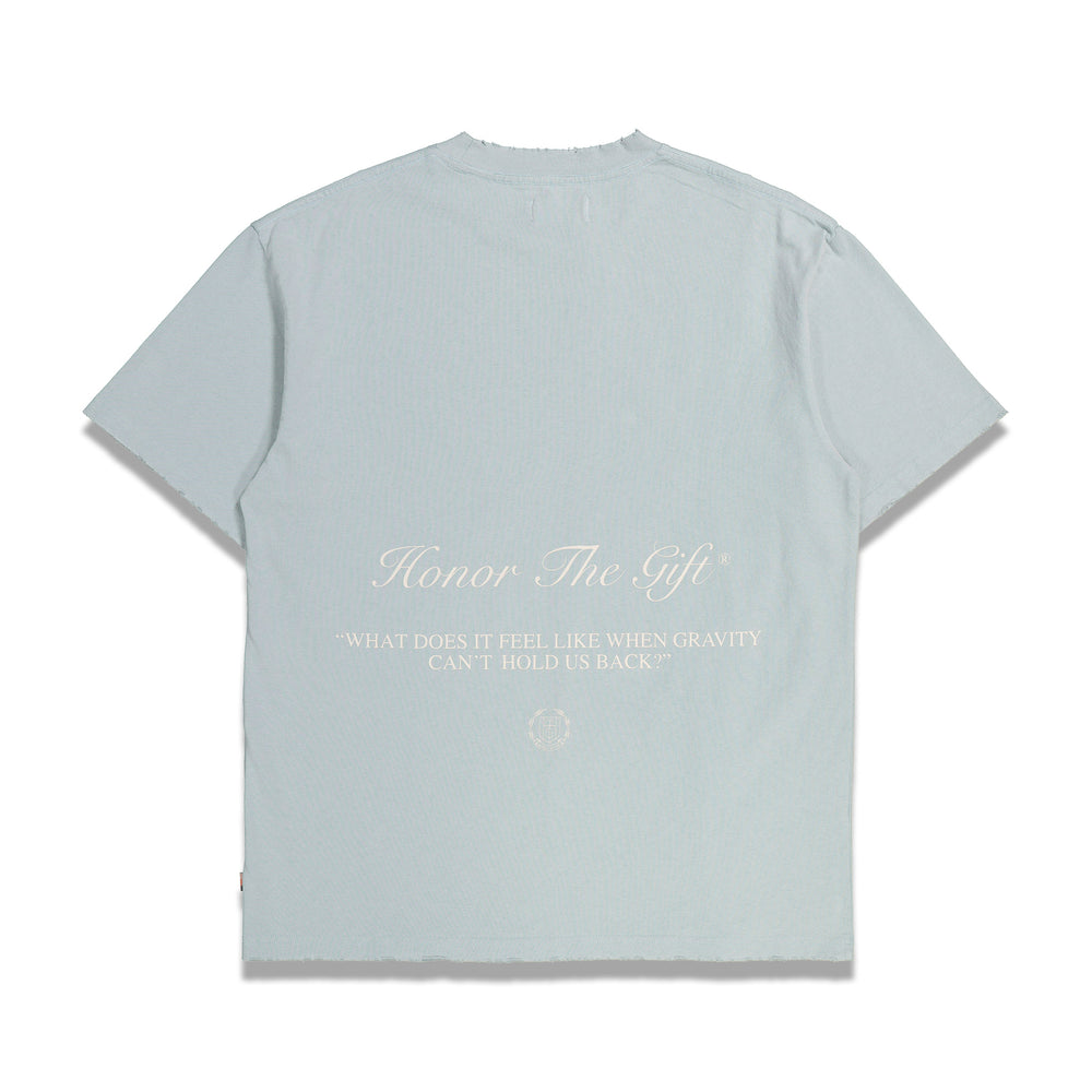 HONOR THE GIFT Iron Peace S/S Tee In Sky Blue