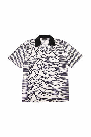 PLEASURES Waves S/S Button Down In White