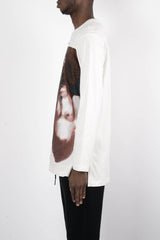 Rochambeau Pac Print L/S Jersey In White/Red