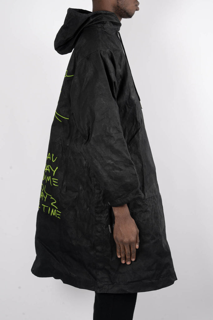 Rochambeau Reversible Military Poncho In Black