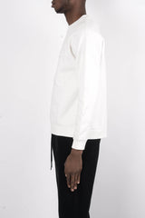 Rochambeau Elbow Patch Sweater In White