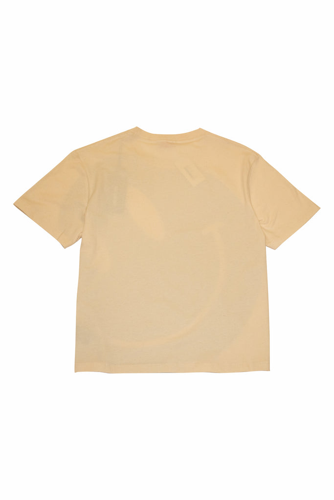 Raf Simons Smiley Cropped T-Shirt In Ecru