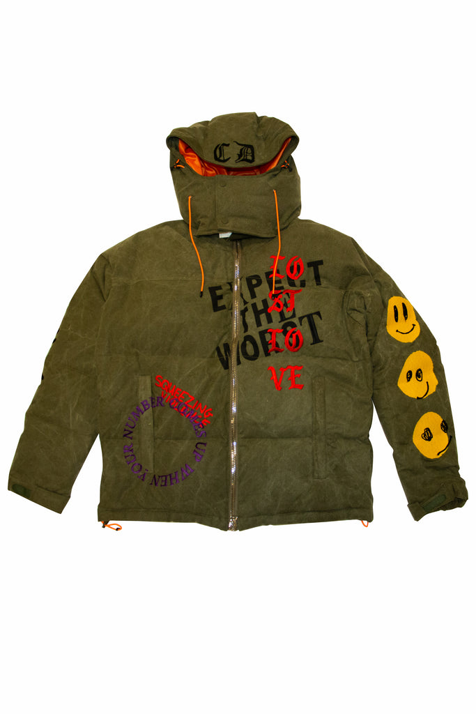 READYMADE Cali Thornhill Dewitt Down Jacket In Green