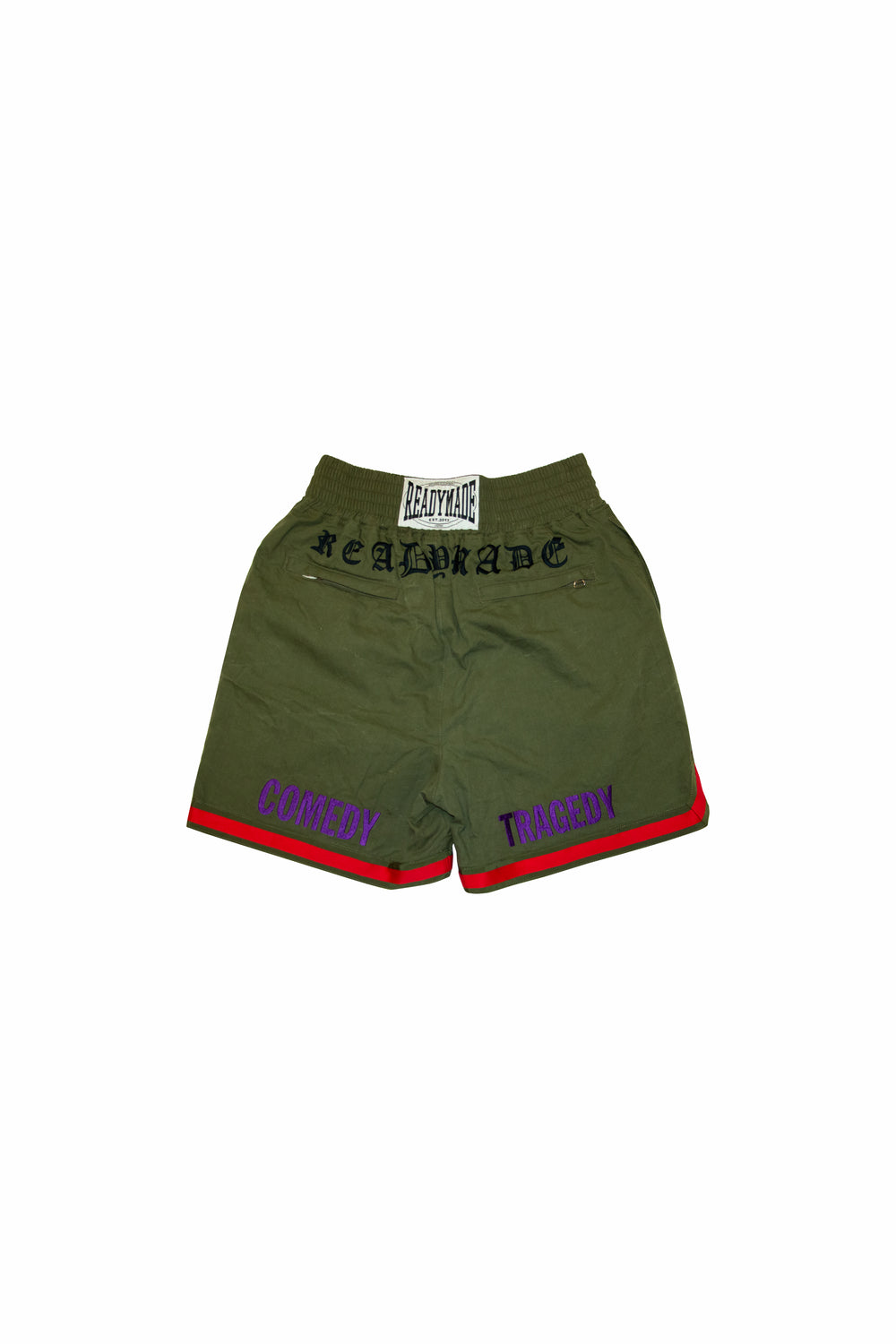 READYMADE Embroidery Boxing Shorts In Green