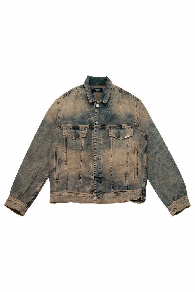 Load image into Gallery viewer, Represent Trucker Denim Jacket In Dirty Indigo - CNTRBND