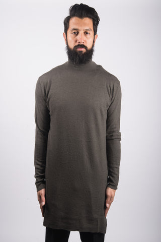 Rick Owens Round Neck Knit In Darkdust