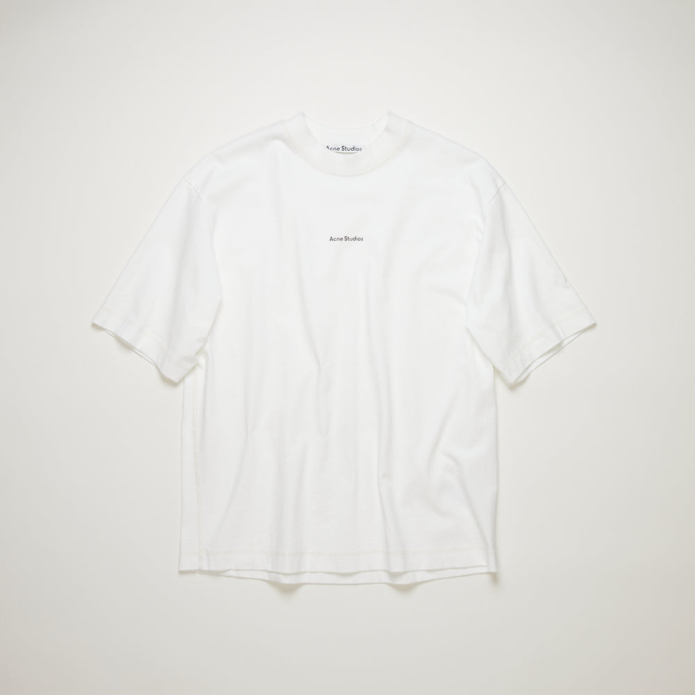 Acne Studios Extorr Stamp T-Shirt In White