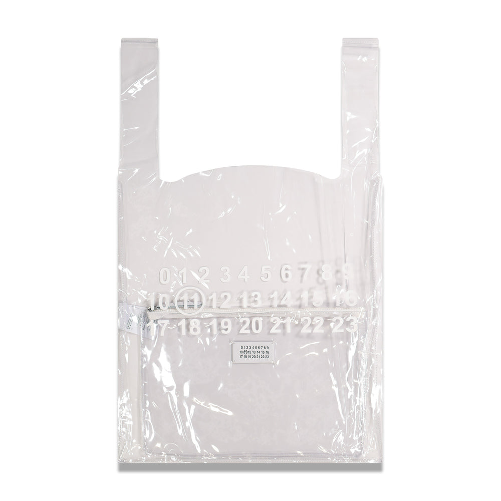 Maison Margiela PVC Logo Bag In Clear