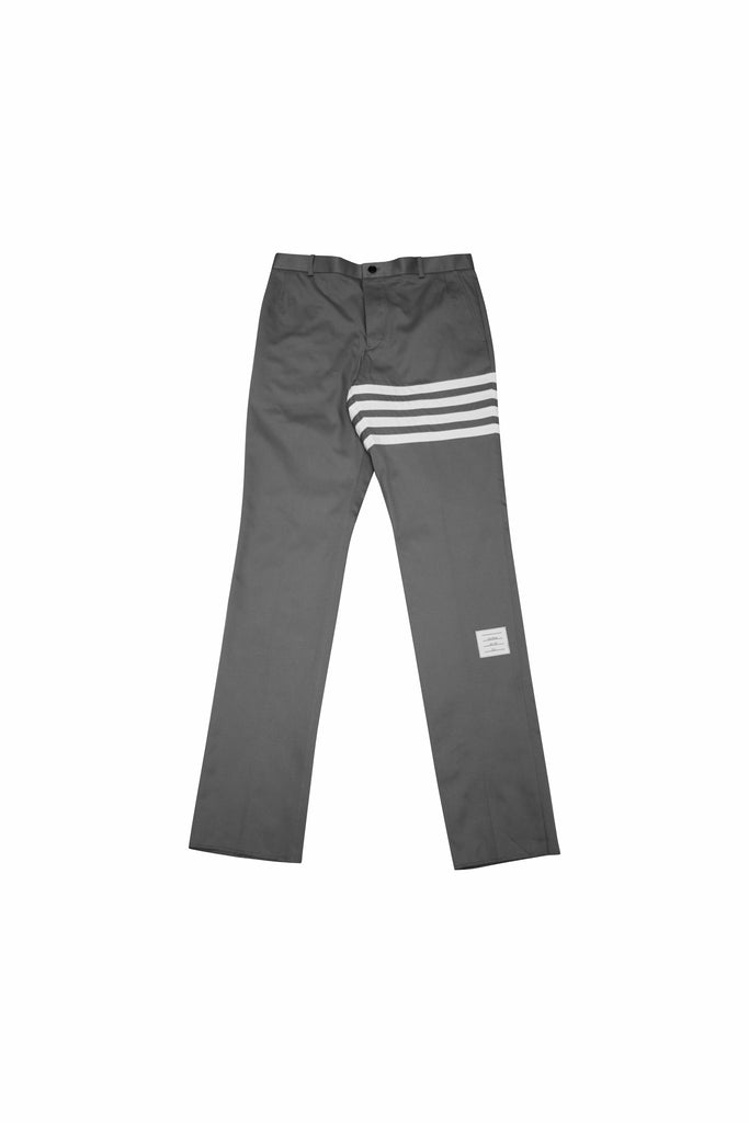 Thom Browne Side Seam Skinny Trouser In Dark Grey