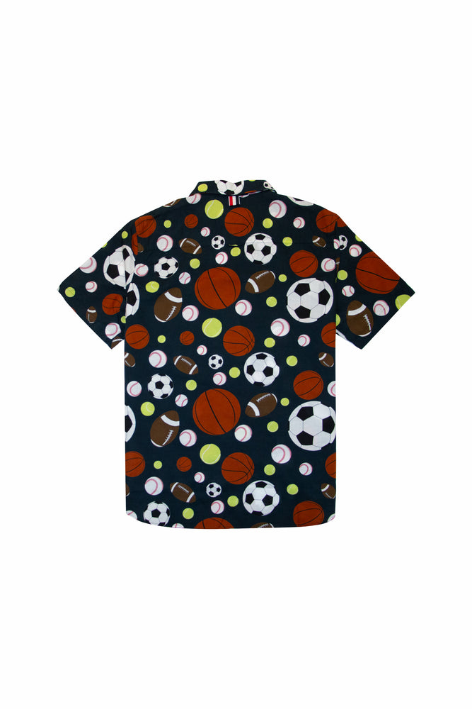Load image into Gallery viewer, Thom Browne Fun Mix Balls Print S/S Shirt In Navy