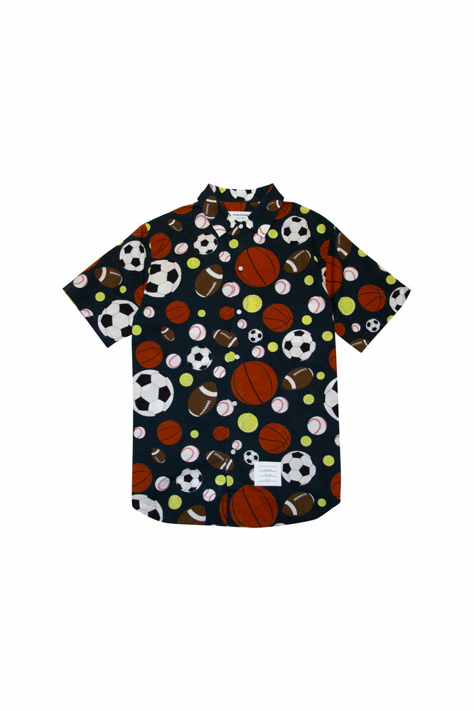 Thom Browne Fun Mix Balls Print S/S Shirt In Navy - CNTRBND