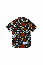 Thom Browne Fun Mix Balls Print S/S Shirt In Navy