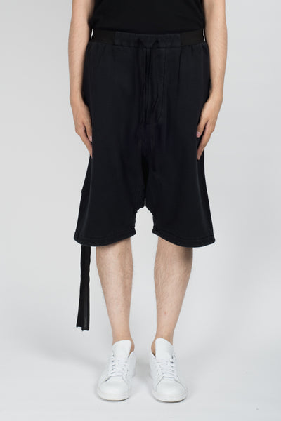 UNRAVEL T Brush Basic D/Crotch Shorts In Black