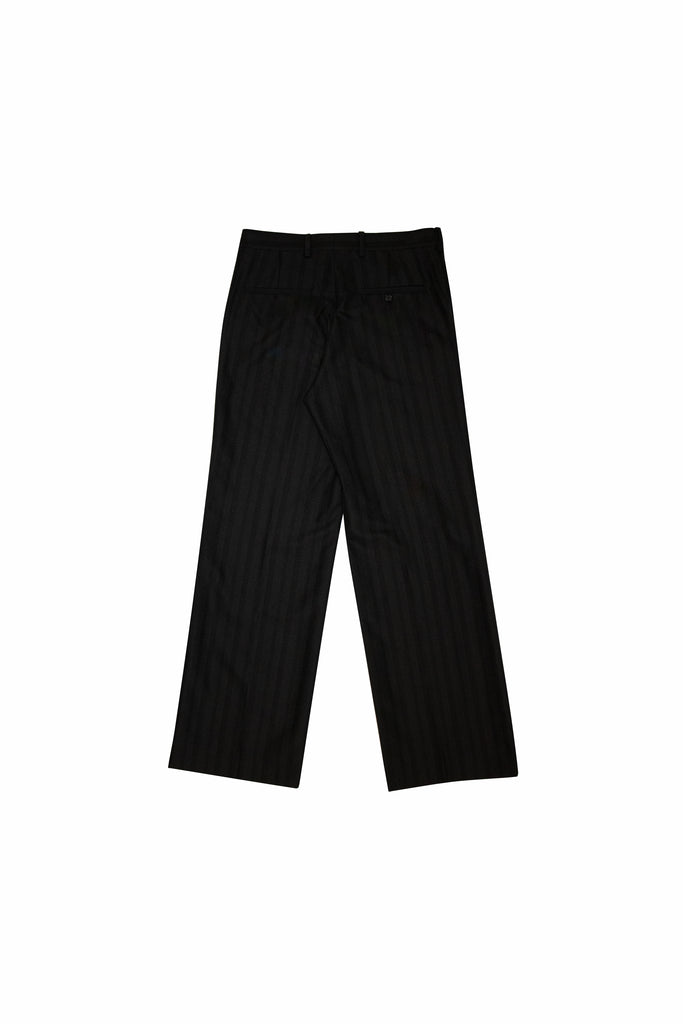 UNDERCOVER Straight Leg Stripe Trousers In Black