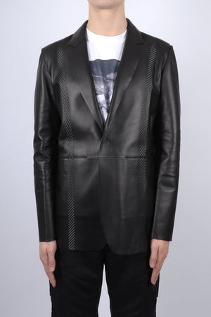 Load image into Gallery viewer, Alyx Mens Taped Leather Blazer In Black
