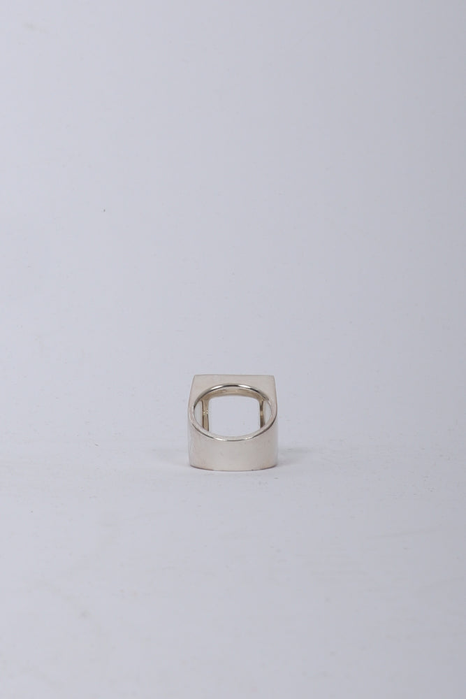 A Cold Wall Oversize Ring In Silver - CNTRBND