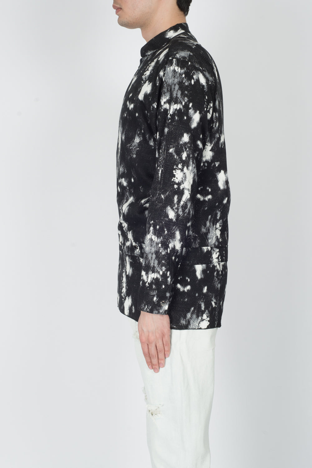 Alyx Wrap L/S Shirt In Black/White